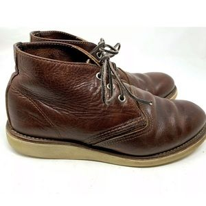 Red Wings Brown Leather Round Toe Ankle Boots 1741
